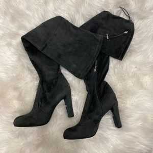 Sam Edelman Charcoal Suede Boots